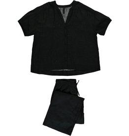 Dorélit Canopus & Alkes | Pajama Set Woven | Black