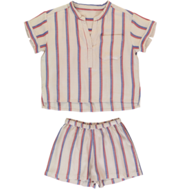Dorélit Carposhirt & Castor | Pajama Set Woven | Darkpink