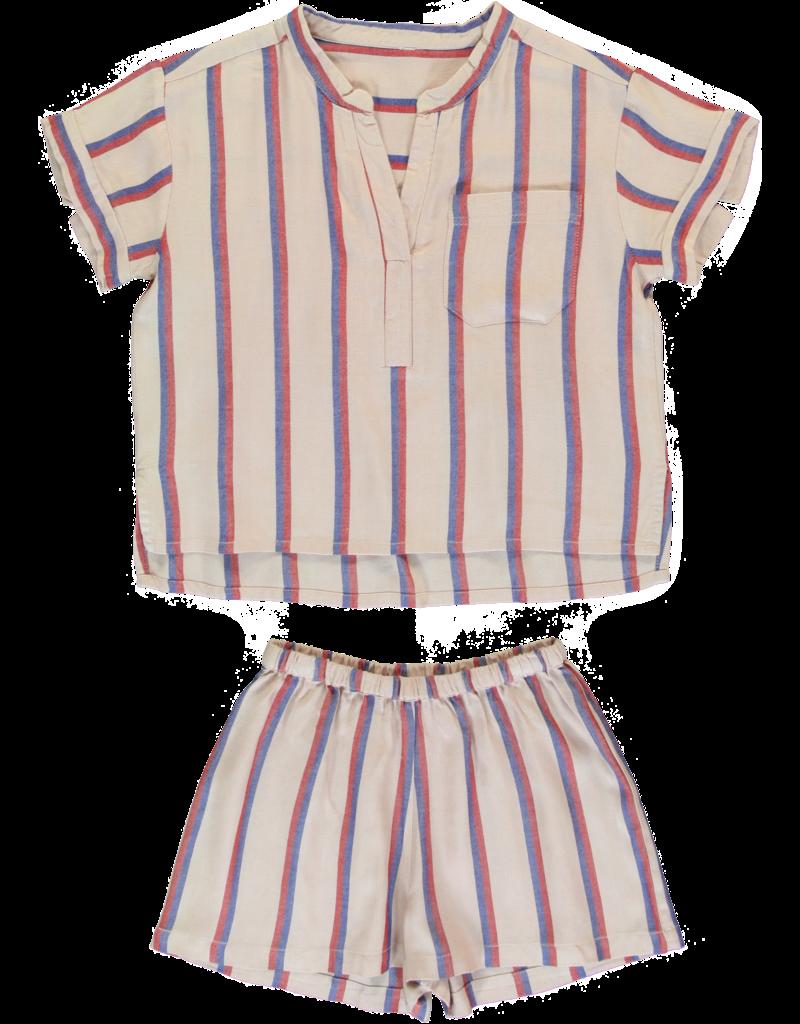 Dorélit Carposhirt & Castor   Pajama Set Woven   Darkpink