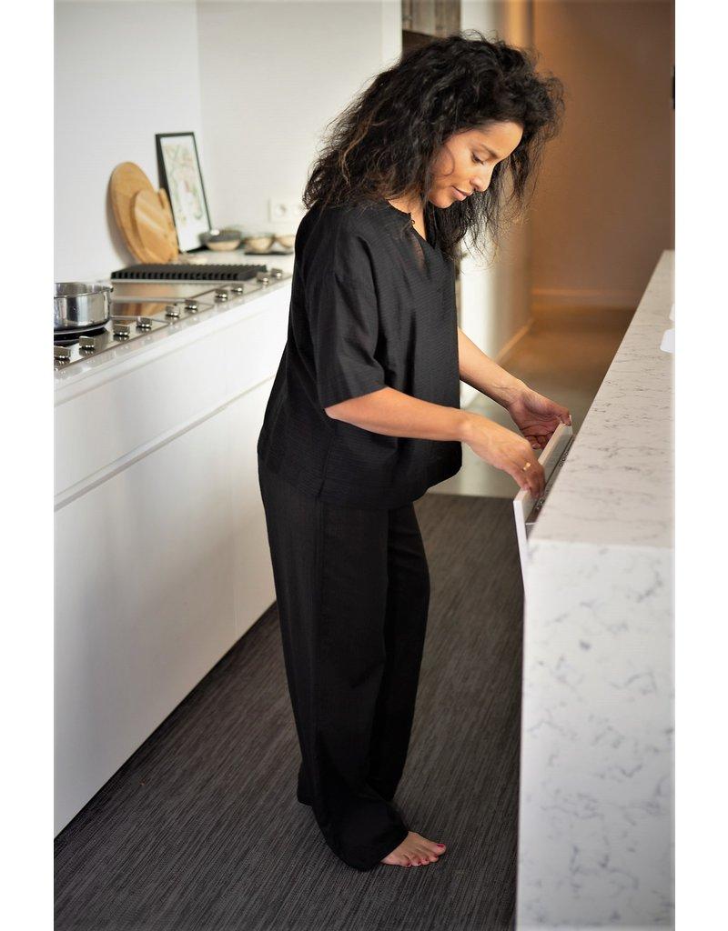 Dorélit Calypso & Alkes | Pajama Set Woven | Black