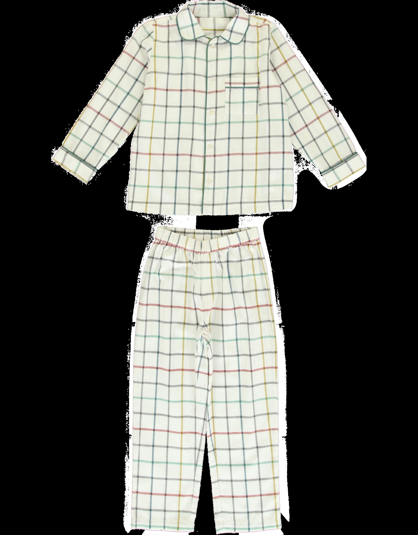 Dorélit Mercure + Venus | Pajama Set Woven | Check Multi