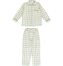 Dorélit Mercure + Venus | Pajama Set Woven | Check Multi
