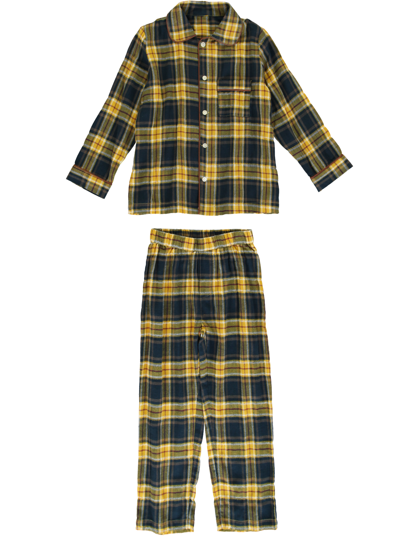 Dorélit Mercure + Venus | Pajama Set Woven | Check Navy