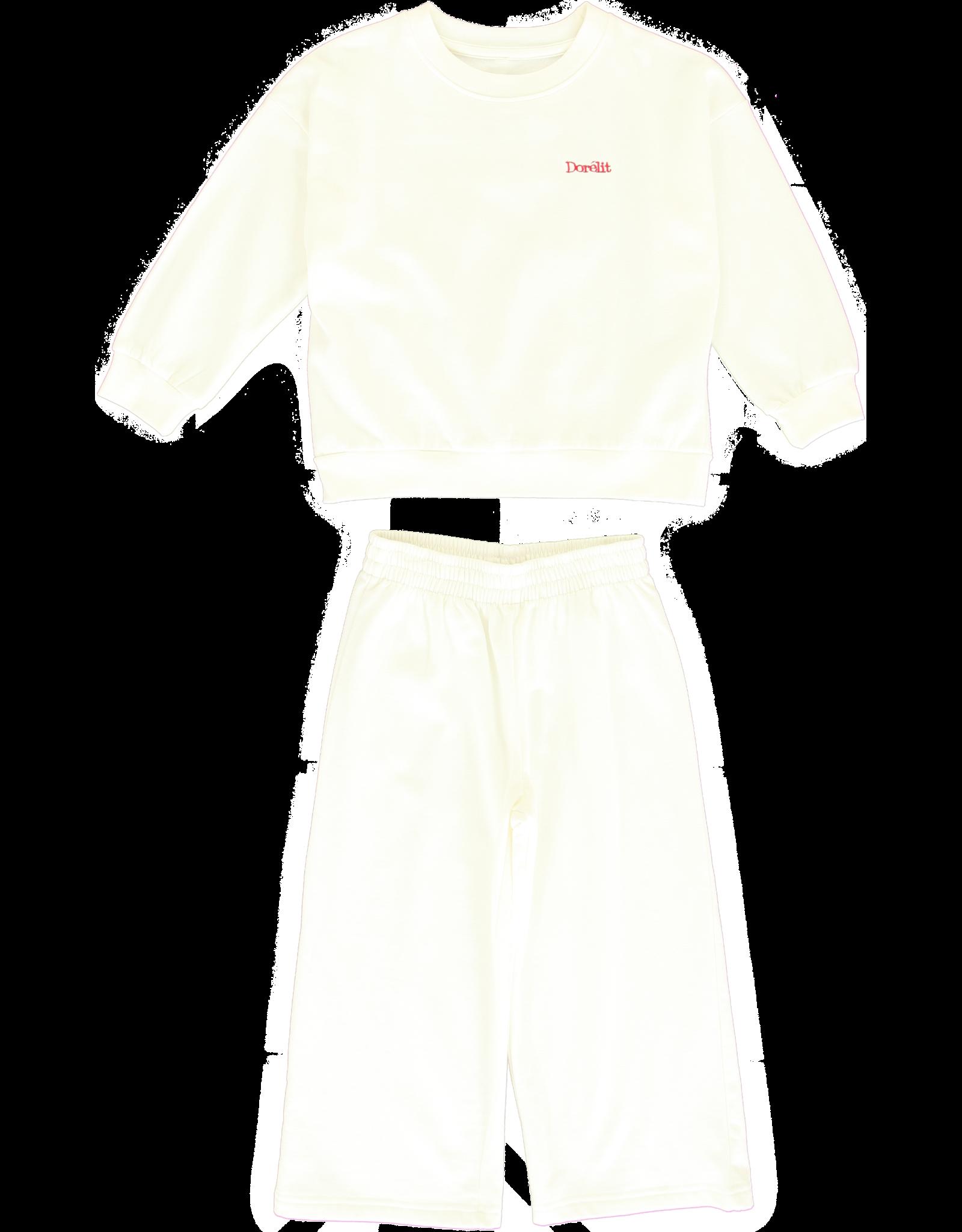 Dorélit Dean + Dylon | Pajama Set Fleece | Offwhite