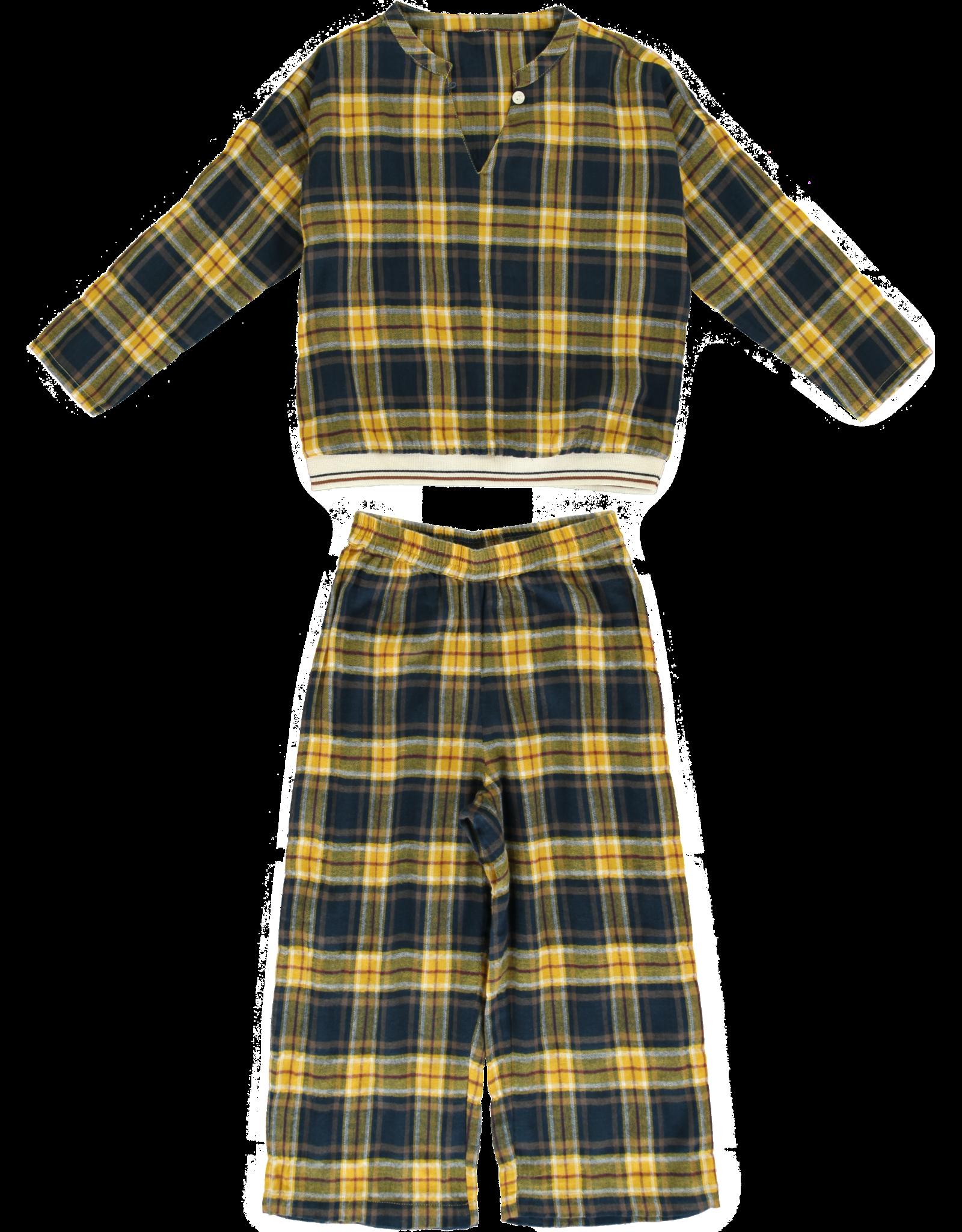 Dorélit Deline + Alkes | Pajama Set Woven | Check Navy