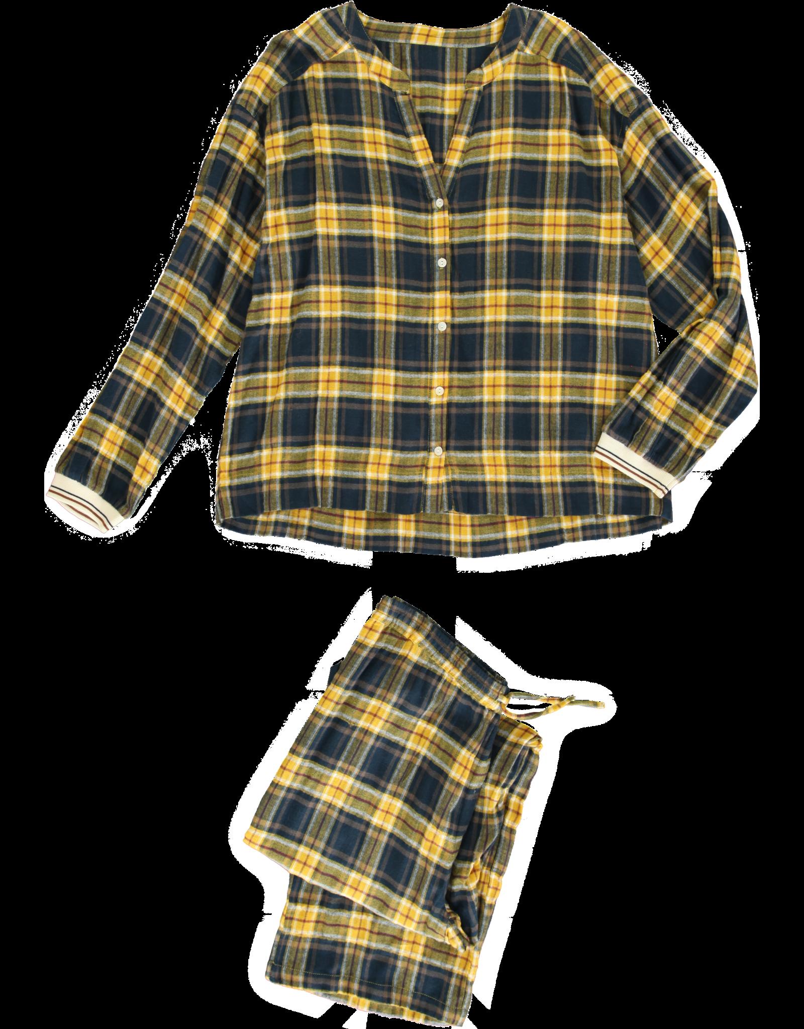 Dorélit Diane + Alkes   Pajama Set Woven   Check Navy