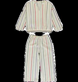 Dorélit Deline + Alkes | Pajama Set Woven | Stripe Multi