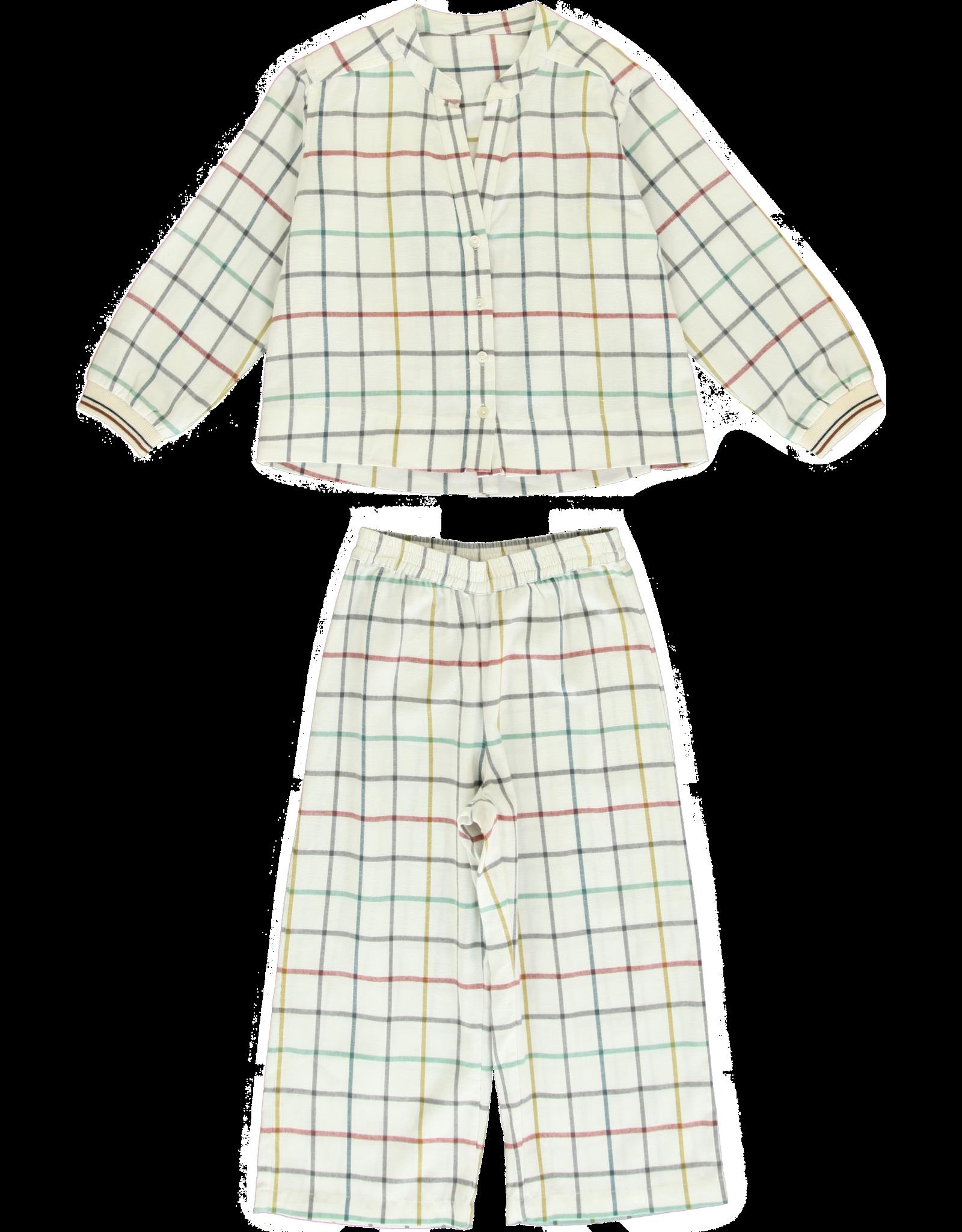 Dorélit Diane + Alkes | Pajama Set Woven | Check Multi