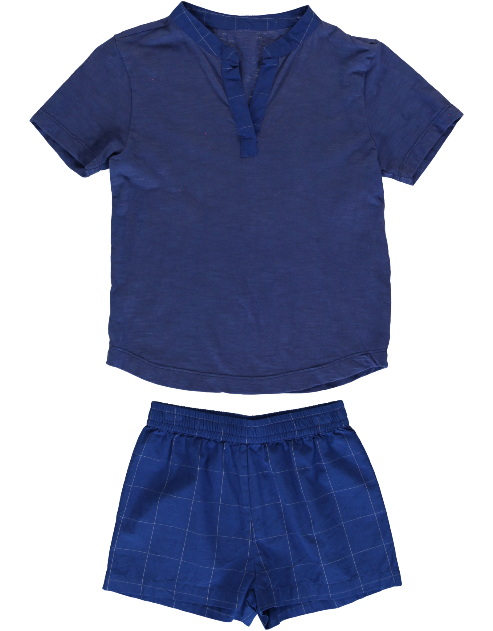 Dorélit Ebre + Mars | Pajama Set Woven | Check Blue
