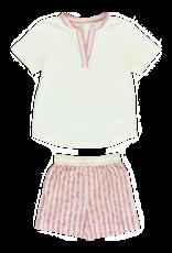Dorélit Ebre + Mars | Pajama Set Woven | Stripe Raspberry