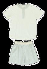 Dorélit Ebre + Mars | Pajama Set Woven | Stripe Green