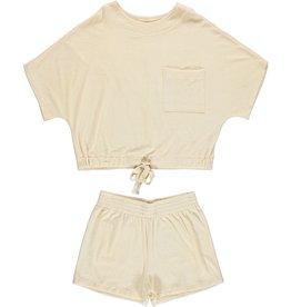Dorélit Emita + Embla | Pajama Set Terry | Off White
