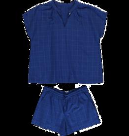 Dorélit Edna + Cupido | Pajama Set Woven | Check Blue