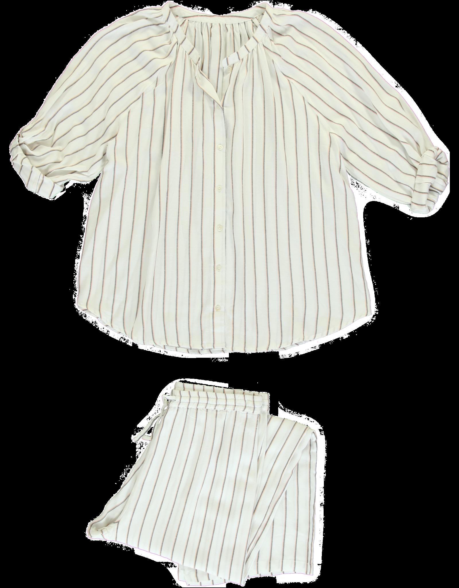 Dorélit Elly + Alkes | Pajama Set Woven | Stripe Viscose