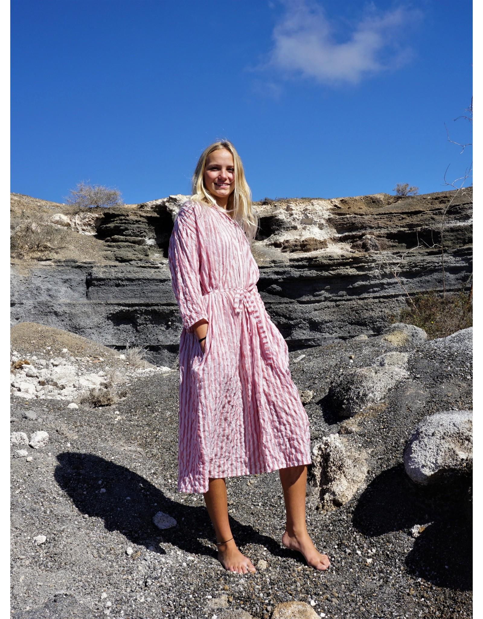 Dorélit Estrella | Nightdress | Stripe Raspberry
