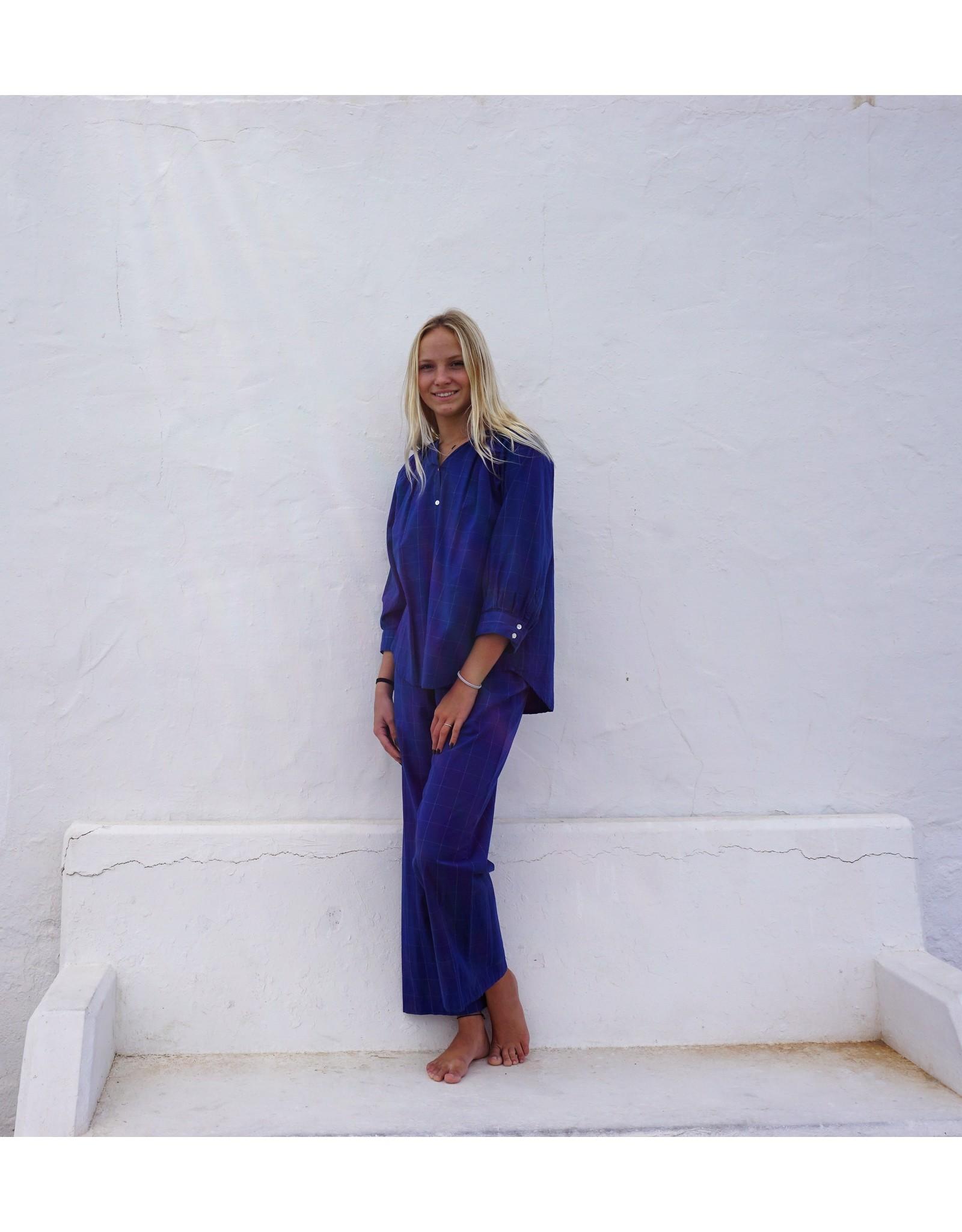 Dorélit Elly + Alkes | Pajama Set Woven | Check Blue