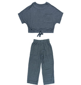 Dorélit Emita + Erda | Pajama Set Terry | Navy