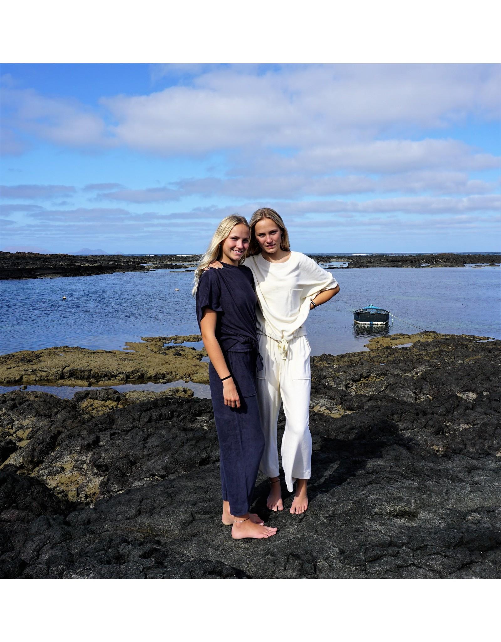 Dorélit Emita + Erda | Pajama Set Terry | Off White