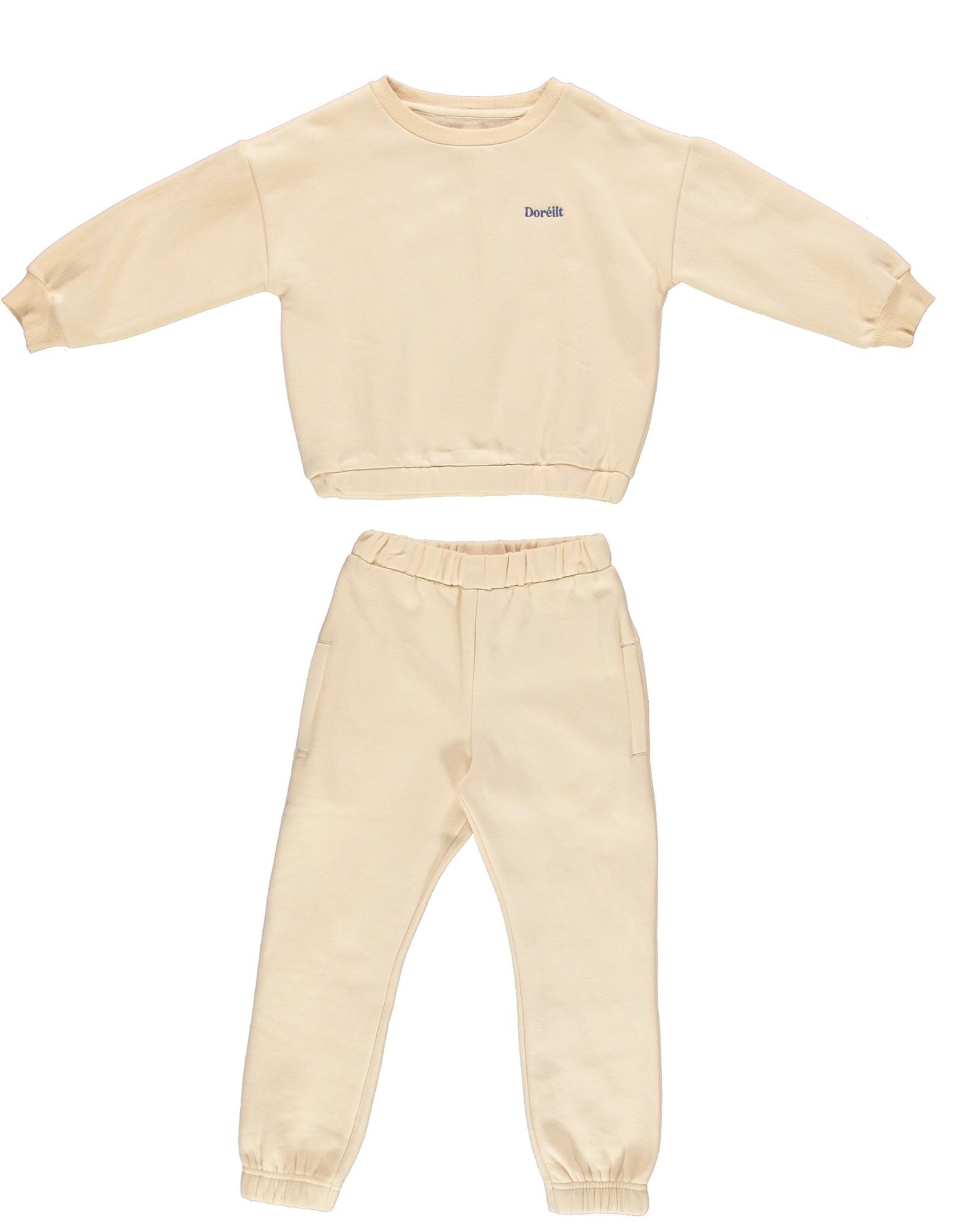 Dorélit Freya + Felix | Pajama Set Fleece | Offwhite