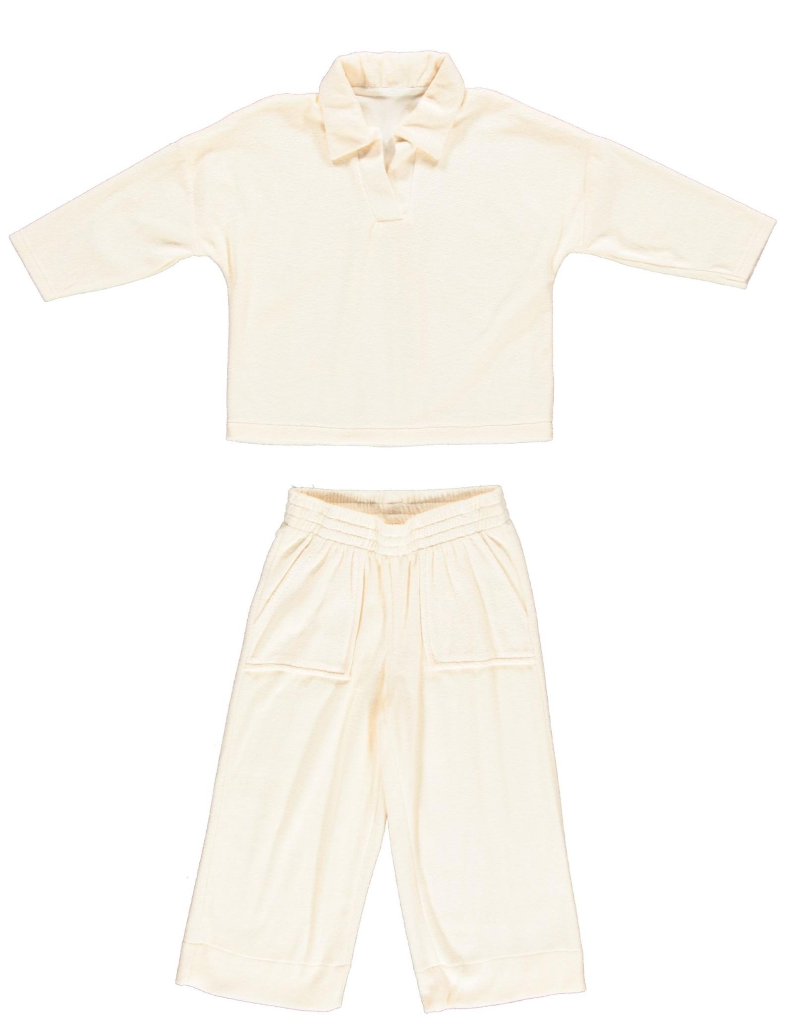 Dorélit Fanny + Flora | Pajama Set Terry | Offwhite