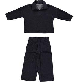 Dorélit Fanny + Flora | Pajama Set Terry | Navy