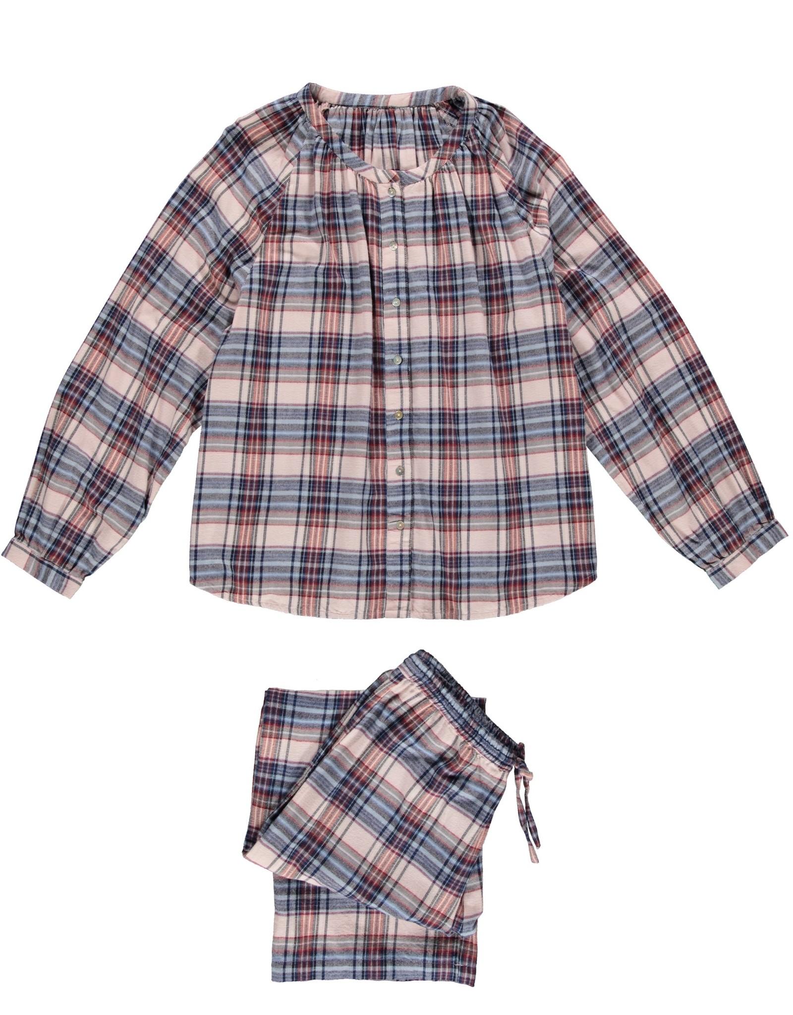Dorélit Fynn + Alkes | Pajama Set Woven | Check Amber