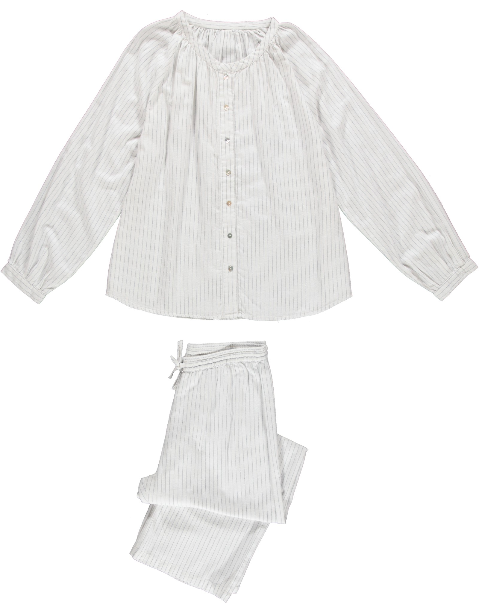 Dorélit Fynn + Alkes   Pajama Set Woven   Pin Stripe