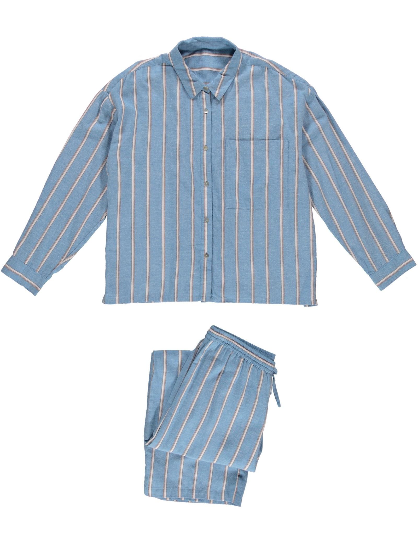 Dorélit Filia + Alkes   Pajama Set Woven   Stripe Blue