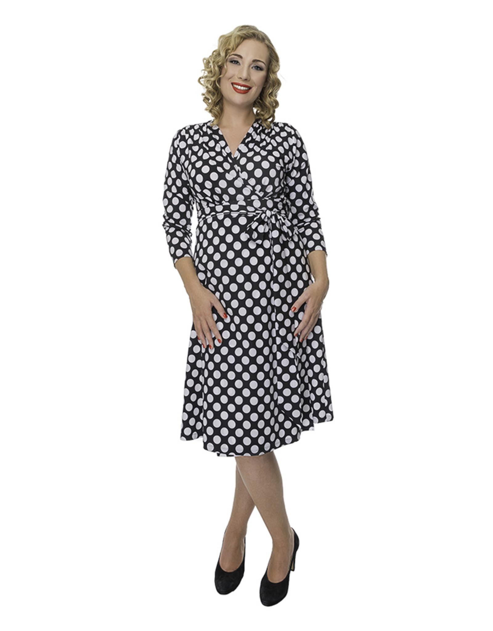 Lovely Dress Jurk Sandra dessin Dot Noir