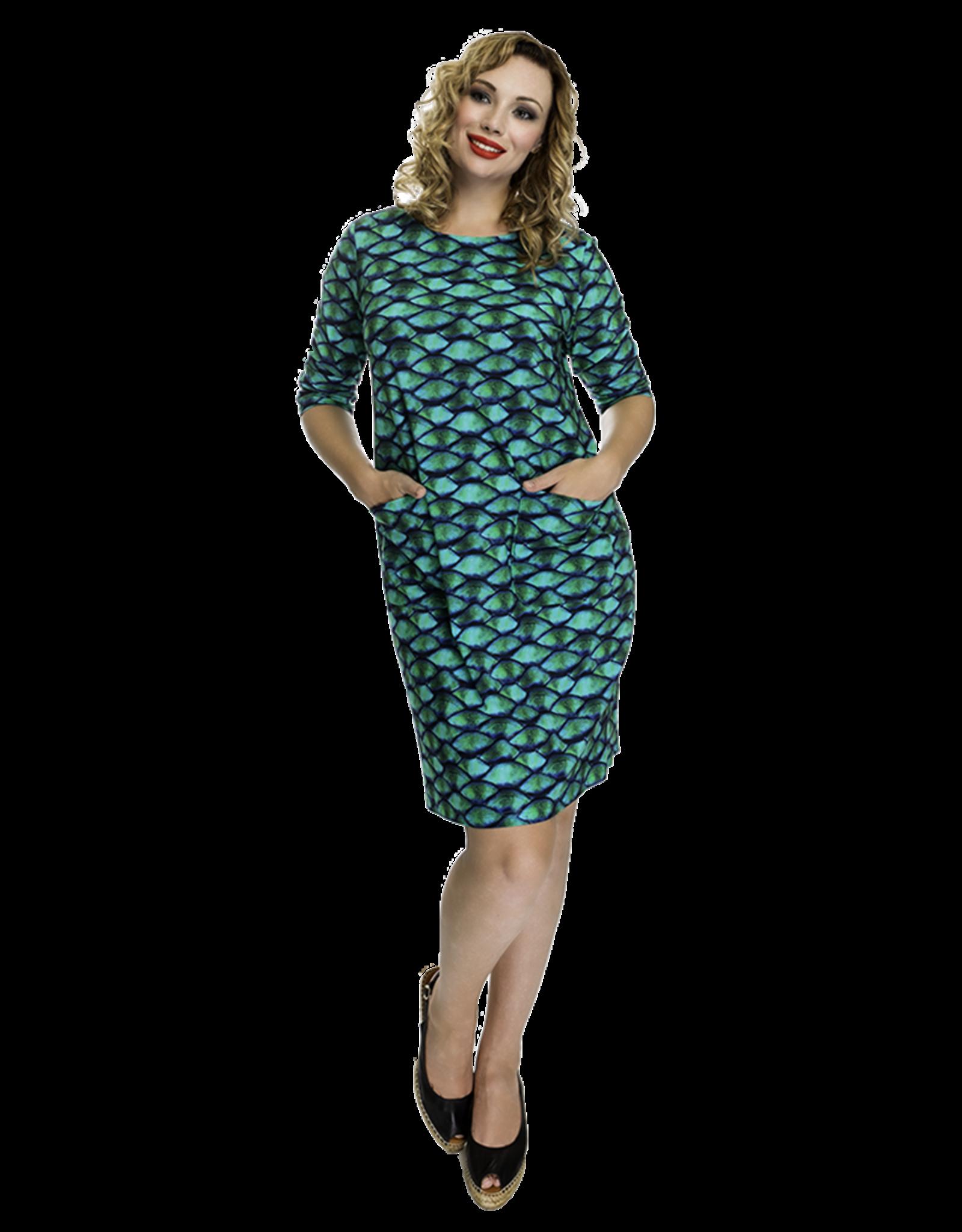 Lovely Dress Jurk Hanny dessin Multifest green