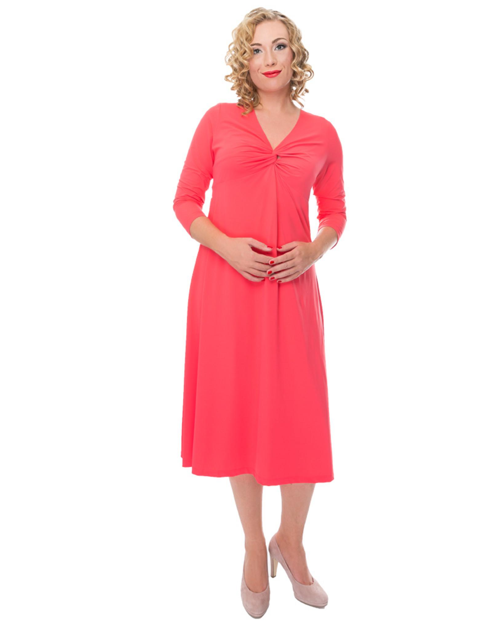 Lovely Dress Jurk Silvia Coral
