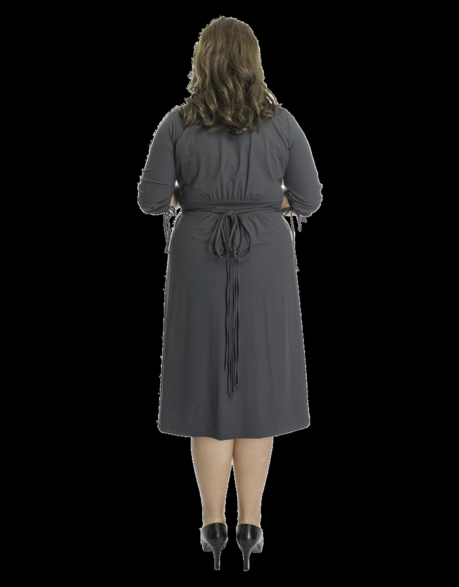 Lovely Dress Jurk Sonja Grigio Scuro