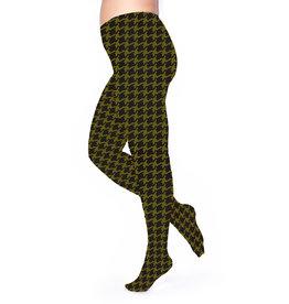 Pamela Mann Panty 50 den Dogtooth Black-Olive