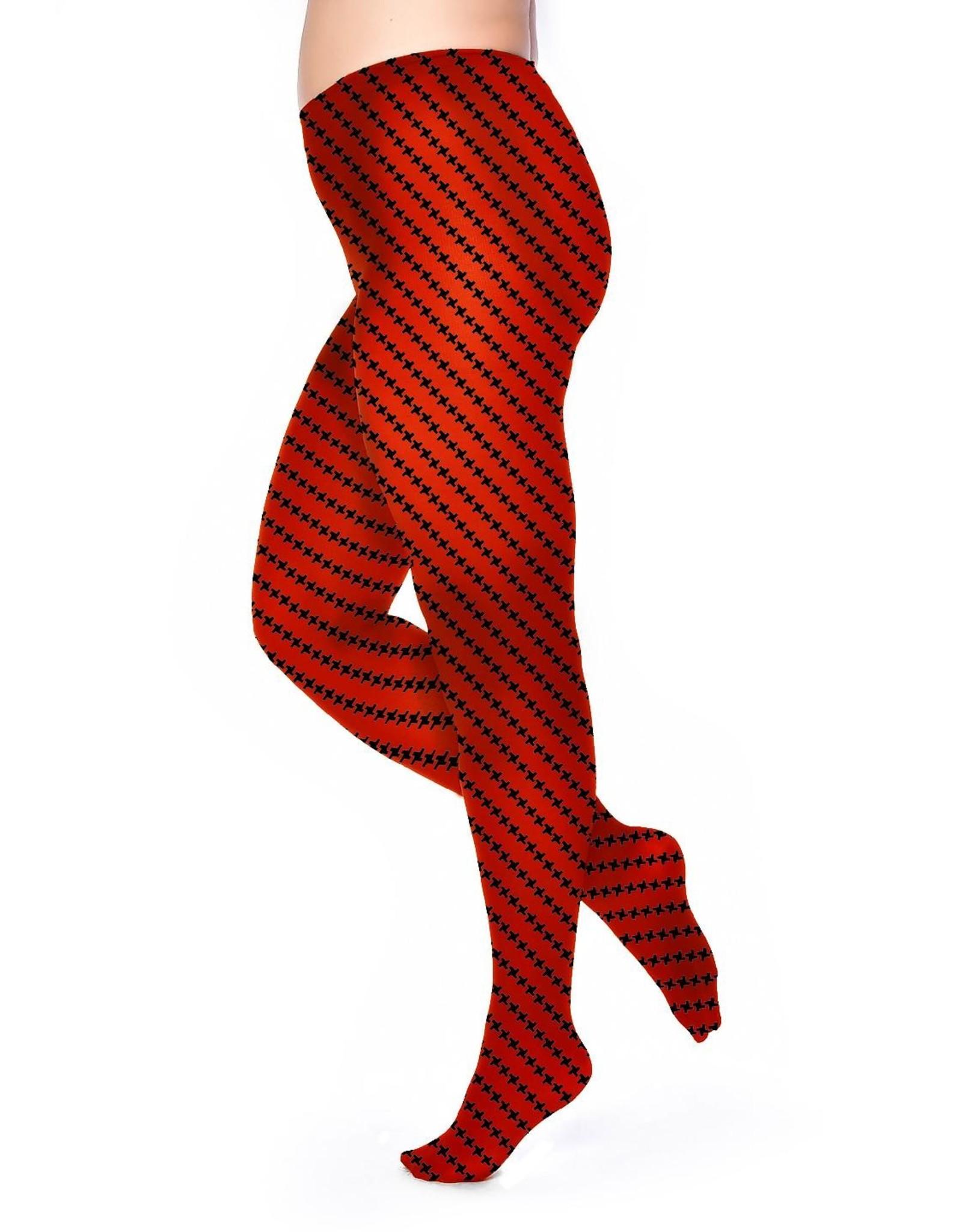 Pamela Mann Panty 50 den Diagonaal Rood