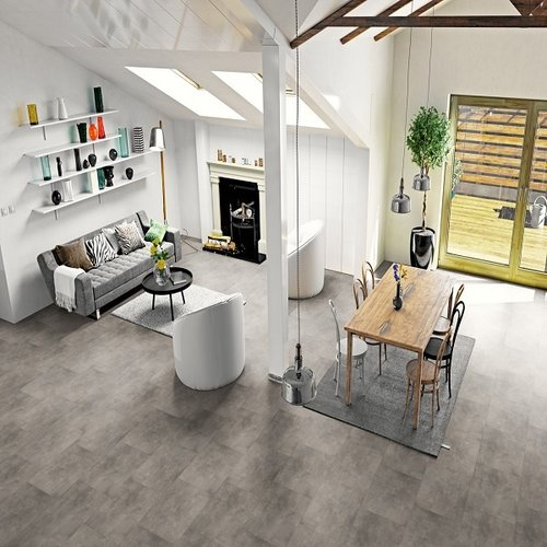 Gelasta  Pure Tile Basalt Light Grey 8506