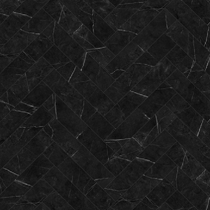 City Visgraat Marble Black 5704