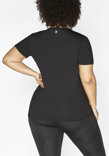 Redmax Women's wrap-over sports shirt Dry-Cool - sustainable Plus Size