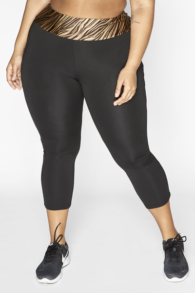Women's 7/8 length sports legging Dry-Cool - sustainable Plus Size