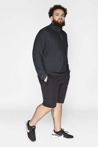 Men's sports shirt long sleeve Dry-Cool - sustainable Plus Size
