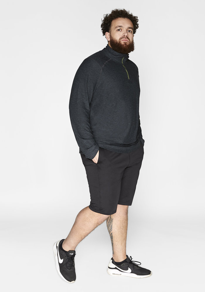 Redmax Men's sports shirt long sleeve Dry-Cool - sustainable Plus Size