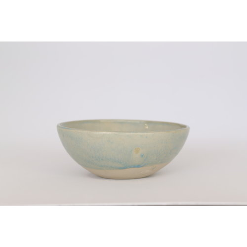 Beige bowl with water-green glaze