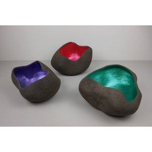 """ChiaroEscuro-design Abstract scale  in ceramic """"Colored Wave"""""""