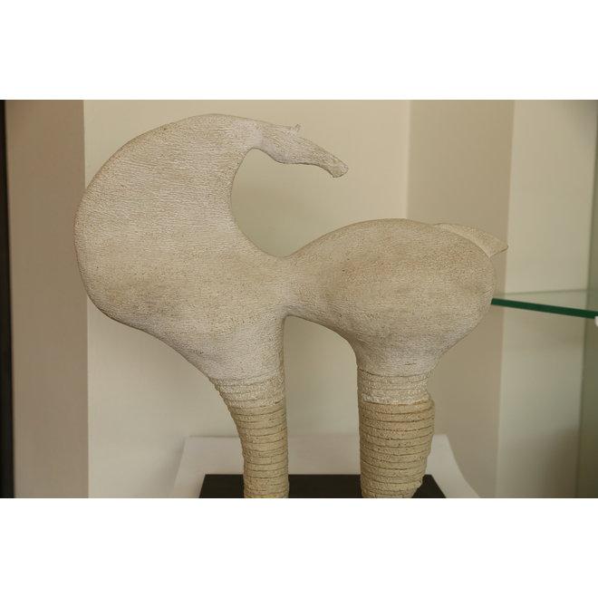 """Genummerd kunstwerk Paard 01 binnen de reeks """"contrast en beweging"""""""