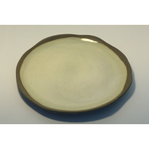 """K!-design """"Ease"""" plate of gray clay"""