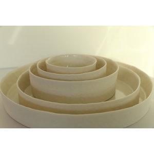 """K!-design Porcelain dish and scale  """"La Bâche Elements"""""""
