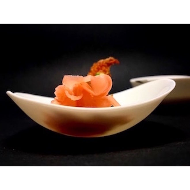 Schaaltjes van het porseleinen hedendaags tafelservies Bonny, goed te gebruiken voor aperitiefhapjes.