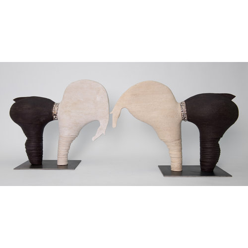 """MARO-kunst Genummerd kunstwerk Paard 26 binnen de reeks """"contrasten beweging"""""""
