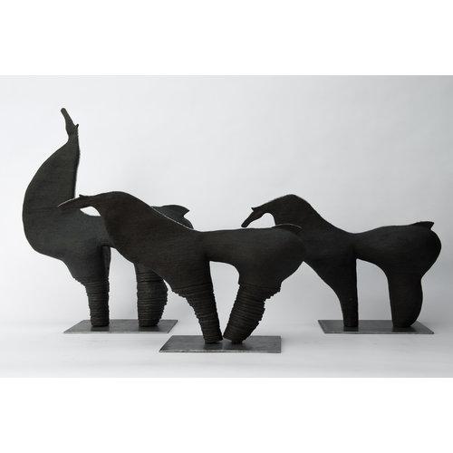 """MARO-kunst Genummerd kunstwerk Paard 21 binnen de reeks """"contrasten beweging"""""""