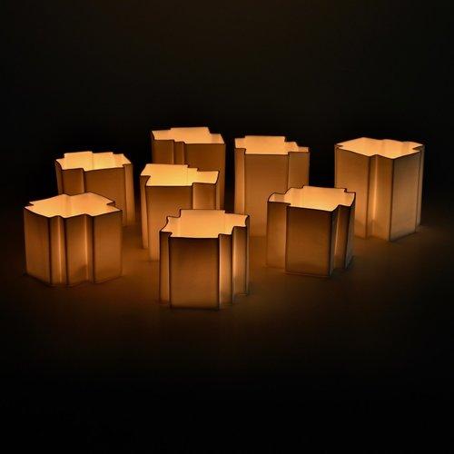 Handmade unique ceramic atmospheric lighting in porcelain or ceramic