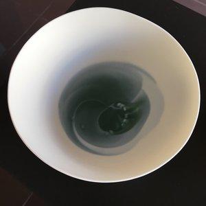 K!-design Bol raffiné en porcelaine à cercles bleus S